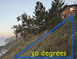 30 degree slope