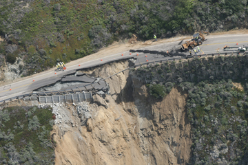 California coast highway collapse